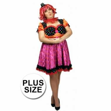 Grote maten clown antonella jurk voor dames