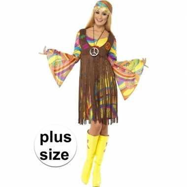 Grote maten hippie jurkje met gilet voor dames