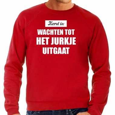 Grote maten kerst is: wachten tot het jurkje uitgaat kerst sweater / kerst outfit rood voor heren