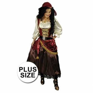 Grote maten piraten jurk met bandana