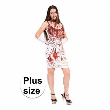 Halloween bloederige jurk voor dames grote maten