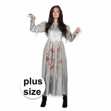 Halloween grote maten zombie halloween bruidsjurk voor dames
