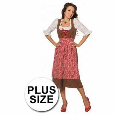 Oktoberfest grote maten lange tiroler jurk