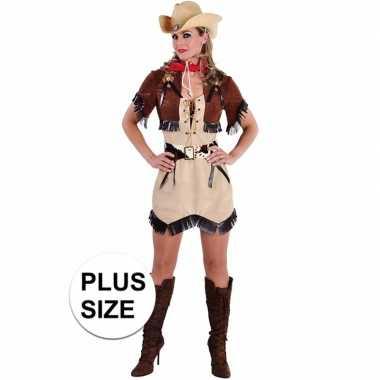 Toppers grote maten cowgirl jurkje met bolero voor dames
